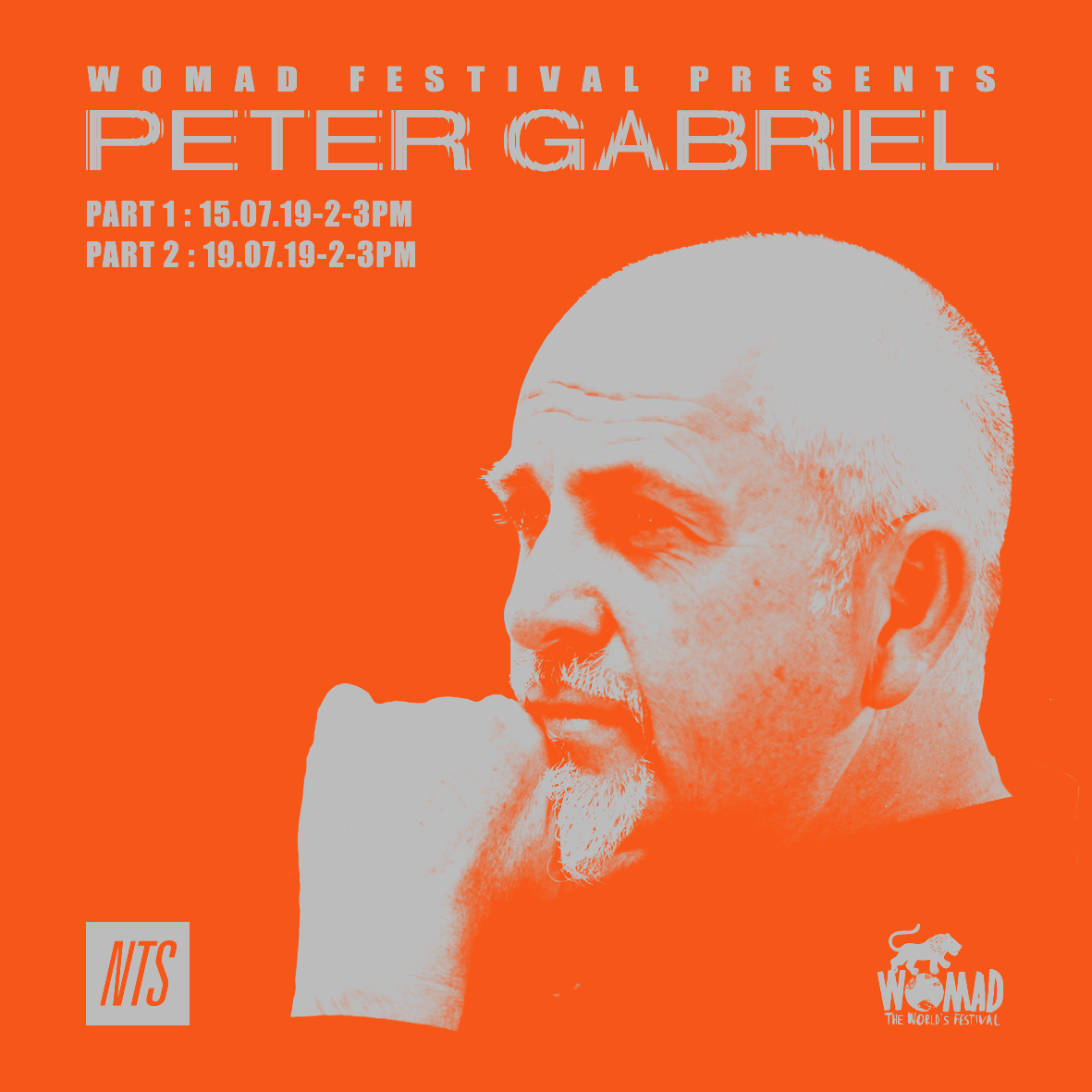 Peter Gabriel residency on NTS - July 15 & 19, 2019 - Music